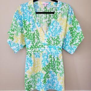 Lilly Pulitzer V-neck Kimono Top
